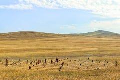 Stenlabyrint eller labyrint av lust arkivfoton