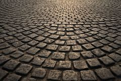 Stenlagd gammal väg Arkivfoton