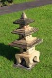 Stenlampa i trädgården Royaltyfria Bilder