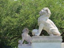 Stenlejon, Newport News, Virginia royaltyfri bild