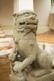 Stenlejonskulptur Royaltyfria Bilder