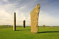 Stenness, Neolithische bevindende stenen, Orkney Royalty-vrije Stock Fotografie