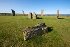 Stenness Standing Stones, Orkney, Scotland Royalty Free Stock Image
