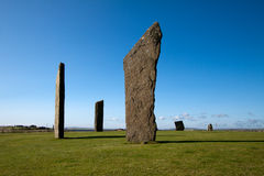 Stenness Standing Stones, Orkney, Scotland Stock Photography