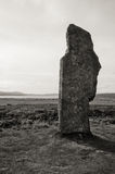 Stenness stone circle black and white stone closeup Stock Image