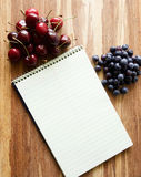 Steno spiral notebook with room for text or recipes Stock Photos