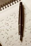 Stenografie und Füllfederhalter Lizenzfreie Stockbilder