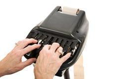 stenograph d'enregistrement de cour Image libre de droits