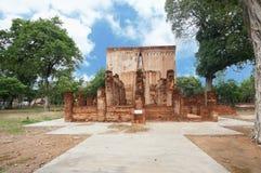 Stenpelare och pagod Arkivbilder