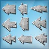Stenpiltecken för den Ui leken stock illustrationer