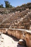 Stenplacering i Beit She ' en amfiteater Royaltyfria Bilder