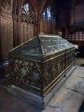 Stensarkofag som innehåller restna av en kristen martyr I arkivbild