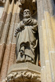 Stenskulptur av Saint Joseph Arkivfoto