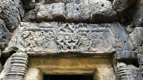 Stenslottöverstycke i Thailand Royaltyfria Bilder