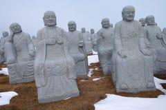 Stenstaty av Buddha Arkivfoto