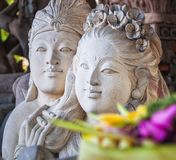Stenstatyer, Denpasar, Bali, Indonesien Royaltyfri Fotografi