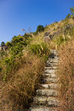 Stenstege av det XiaMen TianZhu berget arkivfoton