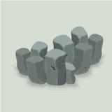 Stenstil i vattenvektorkonst Royaltyfri Fotografi