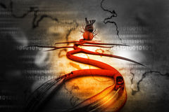 Stent angioplasty Stock Images
