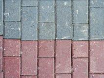 Stentegelplatta av två olika färger Arkivfoto