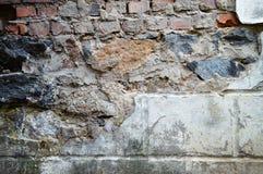 Stentegelstenbakgrund Spillrormurverkvägg Stenvägg som göras av arkivbild