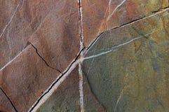 Stentextur med sprickor 3 Royaltyfria Bilder