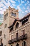 Stentorn i gammal Barcelona byggnad Arkivbild