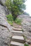 Stentrappuppgång i Montserrat Mountain Royaltyfria Foton