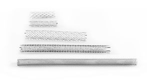 Stents for endovascular surgery. Stents of various sizes for endovascular surgery Stock Photo