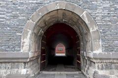 Stentunnel i Shenyang Forbidden City Arkivfoto