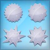 Stenutmärkelser och skyddsremsasymboler för den Ui leken Arkivfoto