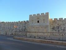 Stenvägg av al-Aqsamoskén, Jerusalem royaltyfri foto