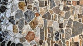 Stenvägg av olika färger och mått royaltyfri illustrationer