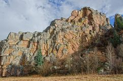 Stenvägg av Stonewall, Colorado Royaltyfri Fotografi
