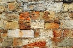 stenvägg för 02 tegelsten Royaltyfria Bilder