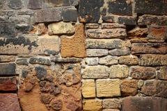 Stenvägg för gammal stil Arkivbild