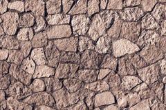 Stenvägg för mosaisk textur av brun färg Royaltyfri Foto