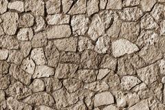 Stenvägg för mosaisk textur av sepiafärg Arkivbilder