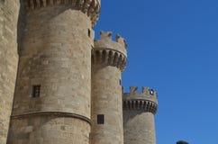 Stenvägg i Rhodes Royaltyfri Fotografi