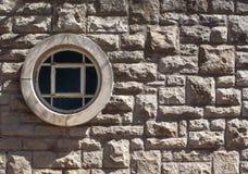 Stenvägg med fönstret Royaltyfri Fotografi