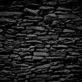 Stenvägg, svart lättnadstextur med skugga Royaltyfria Foton