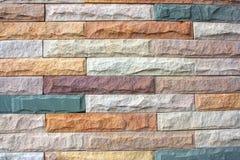 Stenväggen belägger med tegel. Fotografering för Bildbyråer