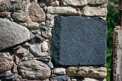Stenväggen, frigör stället för text och illustrationer Information och marknadsföringsbakgrund Royaltyfria Foton
