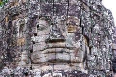 Stenväggmålningar och skulpturer i Angkor Wat Royaltyfria Bilder