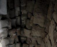 Stenvalv av en gammal byggnad Forntida stonework Bakgrund arkivbild