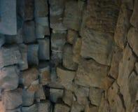 Stenvalv av en gammal byggnad Forntida stonework Bakgrund arkivfoton