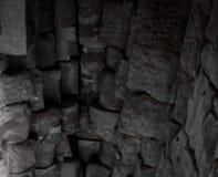 Stenvalv av en gammal byggnad Forntida stonework Bakgrund royaltyfri bild