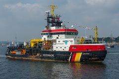 Stenwache do ¼ do barco KÃ da guarda costeira em Kiel fotos de stock