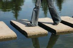 Step. On bridge stock image