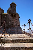 Step arrecife  drawbridge  lanzarote   tower and door  in teguis Royalty Free Stock Images